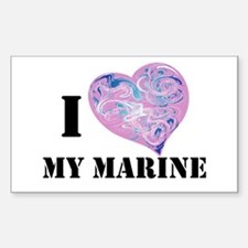 military valentine Rectangle Decal