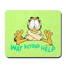 Beyond Help Garfield Mousepad