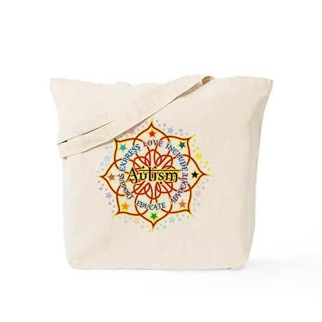 Autism Lotus Tote Bag