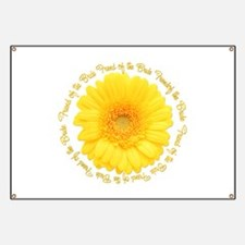 Yellow Daisy Bride's Friend Banner