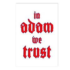 In Adam We Trust Postcards (Package of 8)