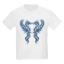Twin Dragon blue T-Shirt