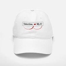 Valentine, Kiss My A! Baseball Baseball Cap