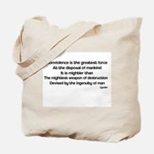 Famous quote by Gandhi Tote Bag
