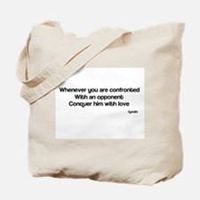Famous quote Gandhi Tote Bag