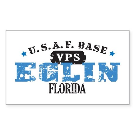 Eglin Air Force Base Rectangle Sticker