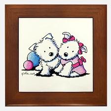 Westie Sweethearts Framed Tile