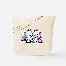 Westie Sweethearts Tote Bag