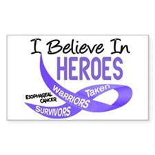 I Believe ESOPHAGEAL CANCER Rectangle Decal