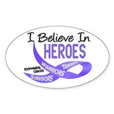 I Believe ESOPHAGEAL CANCER Oval Decal