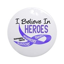 I Believe ESOPHAGEAL CANCER Ornament (Round)