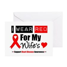 I Wear Red For My Wife Greeting Cards (Pk of 10)
