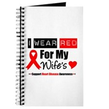 I Wear Red For My Wife Journal