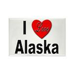 I Love Alaska Rectangle Magnet (10 pack)