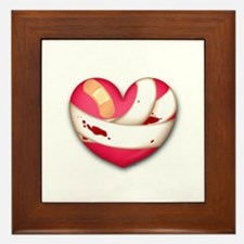 Wounded Heart Framed Tile