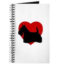 Scottish Terrier Valentine's Day Journal