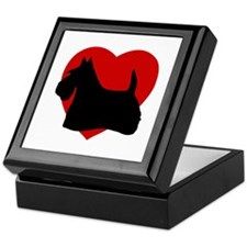 Scottish Terrier Valentine's Day Keepsake Box