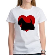 Scottish Terrier Valentine's Day Tee
