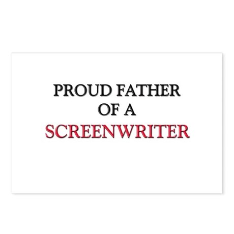Proud Father Of A SCREENWRITER Postcards (Package