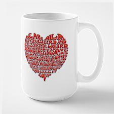 Love Is Weird Large Mug