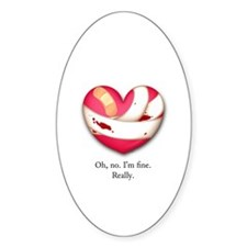 I'm fine Oval Decal