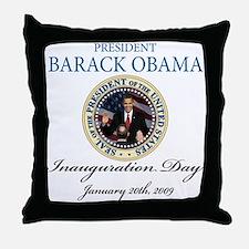 President Obama first black president Throw Pillow