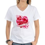 I Love Edward Cullen Women's V-Neck T-Shirt