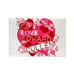 I Love Edward Cullen Rectangle Magnet (10 pack)