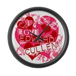 I Love Edward Cullen Large Wall Clock