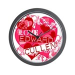 I Love Edward Cullen Wall Clock
