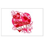 I Love Edward Cullen Large Poster