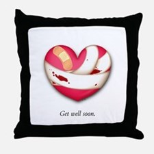 Get Well Soon Throw Pillow