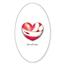 Get Well Soon Oval Decal