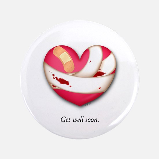 "Get Well Soon 3.5"" Button"