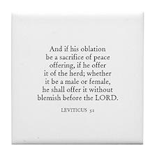 LEVITICUS  3:1 Tile Coaster