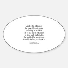 LEVITICUS 3:1 Oval Decal