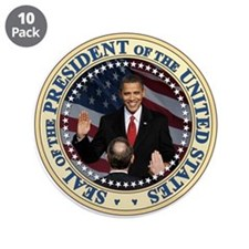 "President Obama inauguration 3.5"" Button (10"