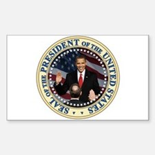 President Obama inauguration Rectangle Decal