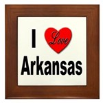 I Love Arkansas Framed Tile