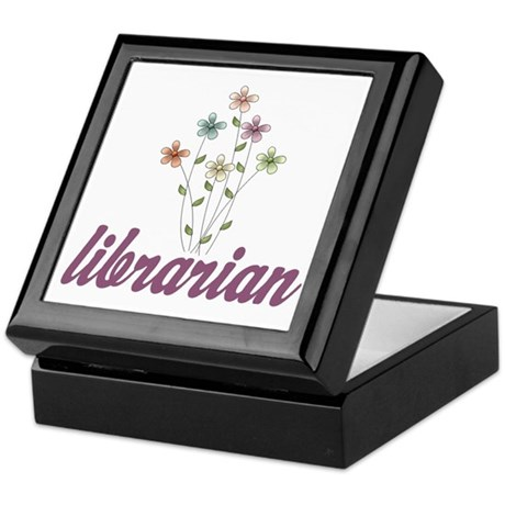 Pretty Librarian Keepsake Box