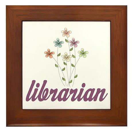 Pretty Librarian Framed Tile