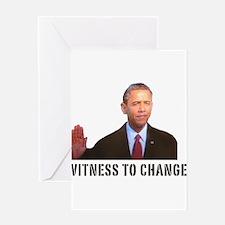 Obama Witness To Change Greeting Card