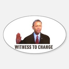 Obama Witness To Change Oval Decal