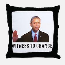 Obama Witness To Change Throw Pillow