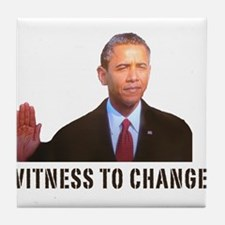 Obama Witness To Change Tile Coaster