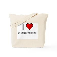 I LOVE MY SWEDISH VALLHUND Tote Bag