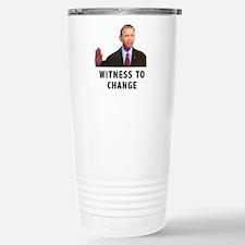 Obama Witness To Change Travel Mug