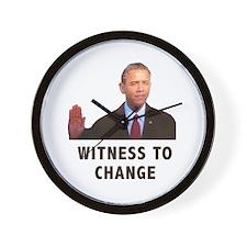 Obama Witness To Change Wall Clock