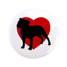 "Staffordshire Bull Terrier Valentine's Day 3.5"" Bu"
