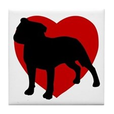 Staffordshire Bull Terrier Valentine's Day Tile Co